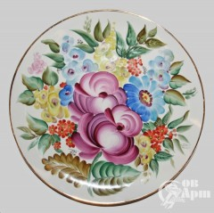 "Декоративная тарелка ""Букет с розами"""